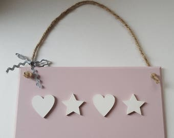 Pink Wall Plaque with Choice of Embellishments