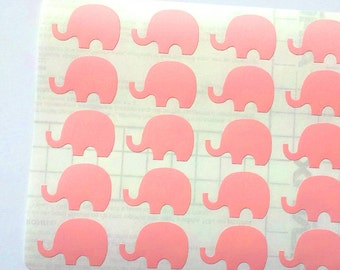 40 Pink Elephant Stickers, Pink Elephant Planner Stickers, Pink Elephant Envelope Seal, Party Stickers, Wedding Stickers, Birthday Stickers