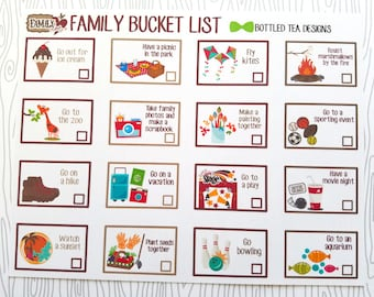 Family Bucket List (Set of 16) Item #497