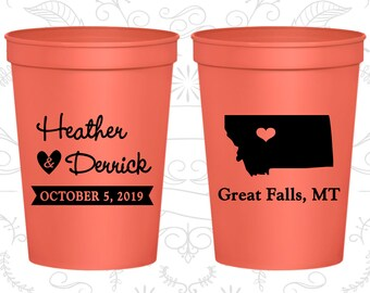 Montana Wedding Cups, Montana Stadium Cups, Montana Plastic Cups, Montana Cups, Montana Party Cups (125)