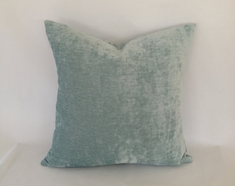 Pindler & Pindler Seaspray Sorrento Silky Velvet Pillow Cover