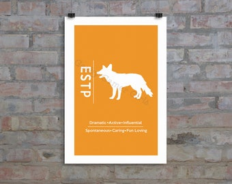 """ESTP Minimalist Poster   Myers Briggs Poster   Personality Type Poster 11x17   """"The Entrepreneur"""""""
