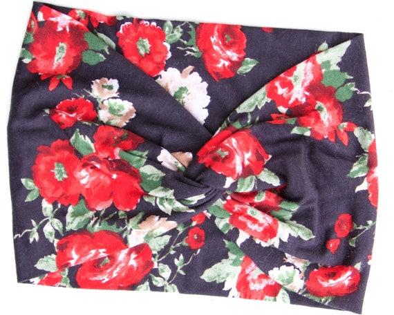 Turban Headband Women Turband Headwrap Hair Accessory Rose Headband Gift For Her Boho Headband Women's Gift Soft Headband Flirty Floral