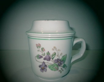 PILLIVUYT FRENCH TEACUP, Violet Teacup, French Violet Teacup, Pillivuyt Violet Teacup