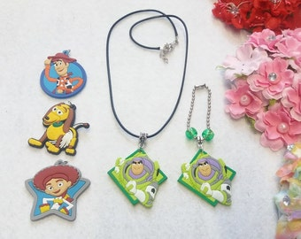 Toy Story Set of  Necklace and Zipper Pull