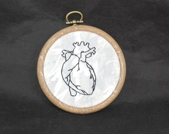 Heart Embroidery Hoop Art Ornament