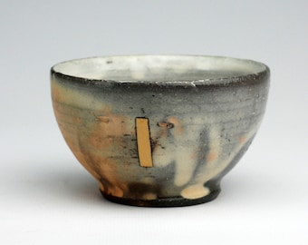 Dessert Bowl with Yellow Rectangle