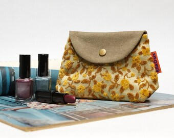 Floral Velvet Snap Pouch - Handmade with Love from Vintage Fabrics