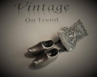 Vintage Continental Silver Dutch Brooch