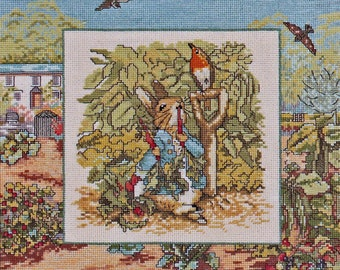 Needle Treasures #03072, Borderlines cross stitch kit, Peter In Mr. McGregor's Garden, unopened counted cross stitch kit, home decor, gift