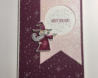 Magical wizard birthday card