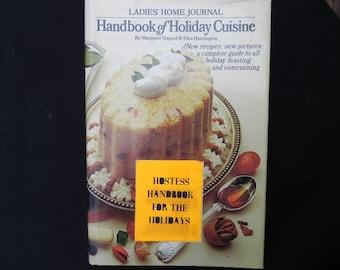 Vintage Cookbook  Ladies Home Journal Handbook of Holiday Cuisine 1970
