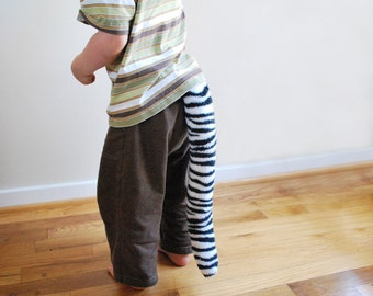 White Tiger Tail - Clip on costume tail for toddlers --> adults
