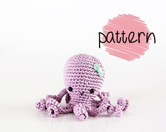 Octopus Amigurumi Pattern, Crochet Octopus Pattern, PDF File, DIY Octopus