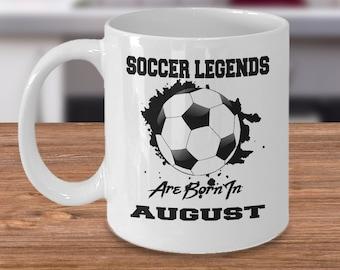 August Soccer Legends Dream League 11oz White Coffee Mug Gift for Soccer Players, Soccer Gift Idea, Soccer Coach Gift, Soccer Mug