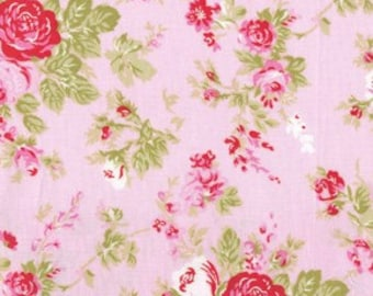 Tanya Whelan Fabric / Delilah Collection / AMELIE in PINK -1 Yard Quilt Fabric