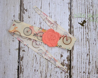 Pedals & Petals Whimsy Wrap Fabric Pink Rose Headband