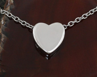 Heart Urn Necklace | Cremation Charm Jewelry | Remembrance Necklace