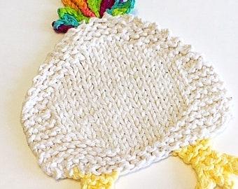 Chicken Butt Coaster, Knitting pattern