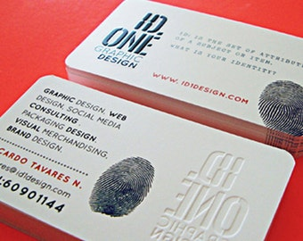 200 Business Cards or Hang tags -  20PT white matte silk laminated stock - Ink press embossing - full color printing - custom printed