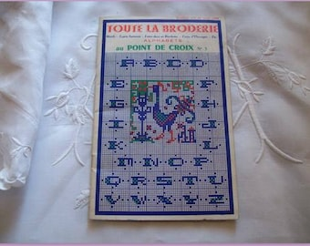 the embroidery, cross-stitch 1956