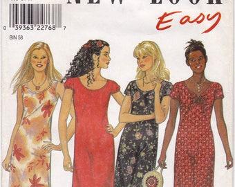 FF New Look 6833, Misses' Maxi Dress, Boho Dress, Summer Dress Cap Sleeves Scoop Neck Sewing Pattern, Size 6-16, Bust 30 1/2-38, UNCUT