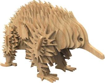 Echidna 3D wooden puzzle/model