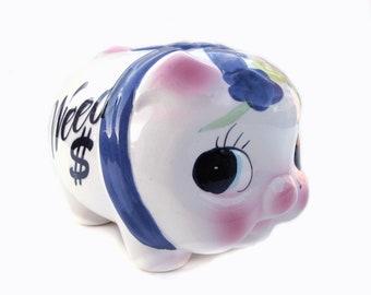 "Spardose Piggy Unkraut 6,5"""