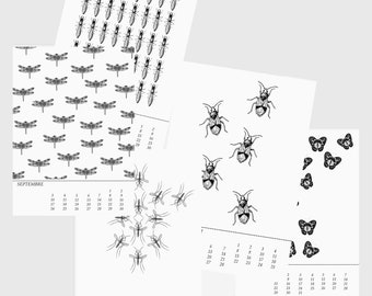 "Perpetual wall calendar ""Insects"""