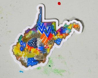 west virginia has my heart - 4 x 4.5 inch vinyl weatherproof sticker
