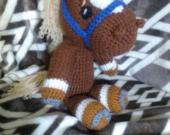 Crochet pony crochet horse Any colors you want