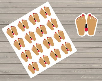 Pedicure Planner Stickers, Spa Day Stickers, Fits Erin Condren Planner, Stickers, Plum Paper Stickers, Pedicure Stickers, Reminder Stickers