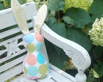Pastel Disco Dots Bits The Bunny Plush Rattle