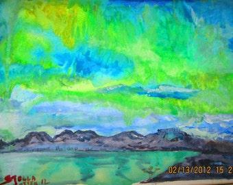 Iceland northern light       print