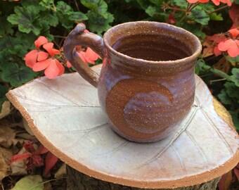 Mystic moon mug and fairy leaf plate fantasy pottery