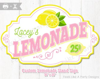 Custom Lemonade Stand Sign - DIY Printable Sign
