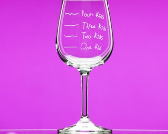 Mother's Helper by Caloric Cuvee® 12.75 oz Stemmed Wine Glass indulge by the ounce - gift for friend - funny gift- counting calories - kids