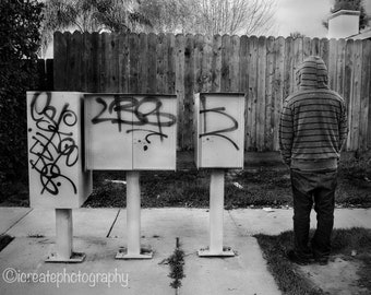 Social Anarchist: Fine Arts/Black & White Photograph