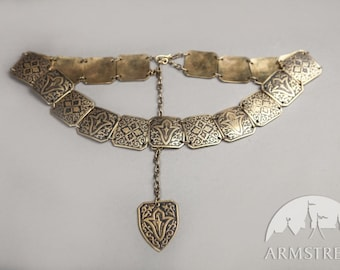 "IN STOCK! Brass Belt ""Sansa"" for the hips of 40 inches (102 cm)"