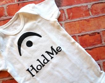 I'm a Fermata Hold Me (Black and White Onesie) - 0-3M Baby Bodysuit