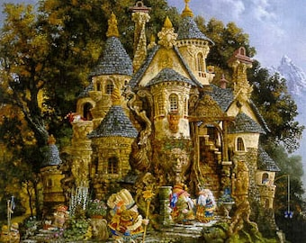 HAED College of Magical Knowledge Heaven and Earth Designs James C. Christensen cross stitch patterns at thecottageneedle.com fairy fantasy
