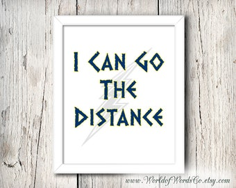 Hercules disney poster, I Can Go The Distance, Art Printable, Wall Art Decor Poster, Motivational Print, Hercules Nursery,  INSTANT DOWNLOAD