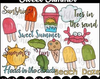 Sweet Summer Clipart Collection- Immediate Download