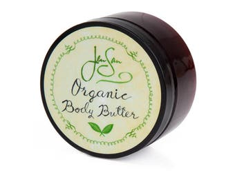JenSan Unscented Natural Organic Body Butter with shea butter and essential oils
