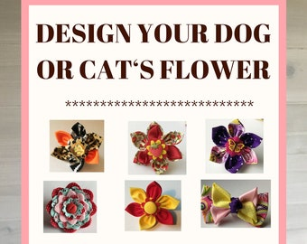 Custom Design A Flower For Your Cat or Dog's Collar
