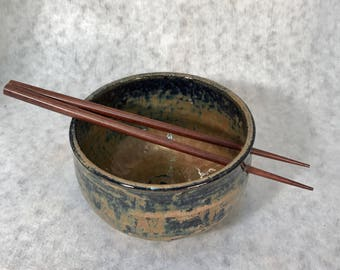 Pottery, Wheel Thrown Ceramic Stoneware Rice or Noodle Bowls Set of 4