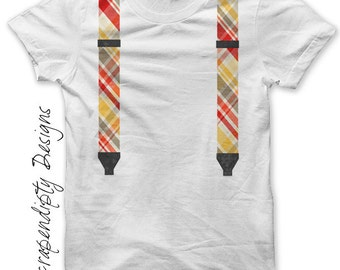 Suspenders Iron on Shirt PDF - Boys Iron on Transfer / Toddler Suspenders Shirt / Baby Geek Clothes / Red Kids Suspenders Clothing Tee IT211