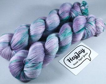 Hand Dyed Sparkle Merino Sock Yarn - Pickle