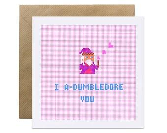 I A-dumbledore You - Harry Potter Dumbledore - Valentines Love Romantic Card