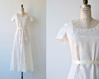 State of Grace wedding gown | vintage 1930s wedding dress | embroidered 30s wedding dress